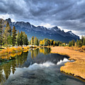 Reflections In Canmore by Tara Turner