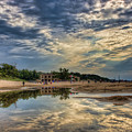 Reflections On The Beach by Scott Wood