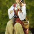 Renaissance Fiddler Lady by Francesa Miller