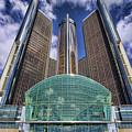 Rencen Detroit Gm Renaissance Center by Gordon Dean II