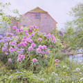 Rhododendrons By A Watermill by George Marks