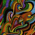 Ribbons Of Color by Brenda Adams