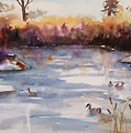 River Geese by Renee Chastant