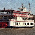 Riverboat Queen - Digital Art by Al Powell Photography USA