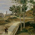 Road From Volterra by Jean Baptiste Camille Corot