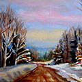Road To Knowlton Quebec by Carole Spandau
