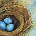 Robin's Three Eggs II by Torrie Smiley
