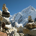 Rock Piles In The Himalayas by Shanna Baker
