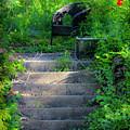 Romantic Garden Scene by Teresa Mucha