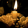 Roses And Candle by Andrea Barbieri