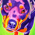 Rottweiler - Summer Puppy Love by Alicia VanNoy Call