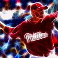 Roy Halladay Magic Baseball by Paul Van Scott