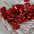 Ruby Red Hearts And Crystal by Colleen Cornelius