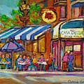 Rue Prince Arthur Casa Grecque Montreal by Carole Spandau