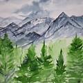 Ruidoso Nm Southwestern Mountain Landscape Watercolor Painting Poster Print by Derek Mccrea