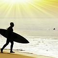 Rushing Surfer by Carlos Caetano