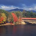 Saco River Covered Bridge Storm by John Burk