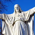 Sacred Heart Statue by Carol Christopher