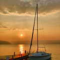 Sailboat And Sunrise by Steven Ainsworth