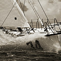 Sailboat Le Pingouin Open 60 Sepia by Dustin K Ryan