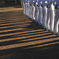 Sailors Stand At Parade Rest by Stocktrek Images