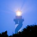 Saint Augustine Lighthouse In The Fog by John Harmon