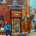 Saint Henri Street In Winter by Carole Spandau