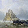 Saint Michael's Mount In Cornwall  by William Clarkson Stanfield