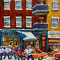 Saint Viateur Bagel With Hockey by Carole Spandau