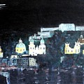 Salzburg In Moonlight by Michela Akers