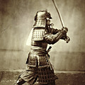 Samurai With Raised Sword by F Beato