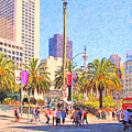 San Francisco Union Square by Wingsdomain Art and Photography