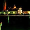 San Georgio Maggiore In Venice At Night by Michael Henderson
