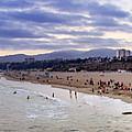 Santa Monica Sunset Panorama by Ricky Barnard