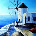 Santorini by Claudia Mandl