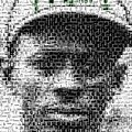 Satchel Paige Kc Monarchs African American Mosaic by Paul Van Scott