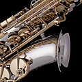 Saxophone Isolated Black by M K  Miller