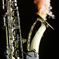 Saxophone With Smoke by Garry Gay