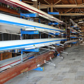 Sculling Shells On Racks by Noam Armonn