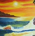 Seashore And Sunrise by Riya Rathore