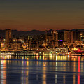 Seattle Downtown Skyline From Alki Beach Dawn by David Gn Photography