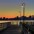 Seattle Skyline From The Alki Beach Seacrest Park by David Gn Photography