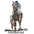 Secretariat At The Belmont Mural by Amanda  Sanford