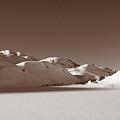 Sepia-toned Mountain Landscape by Stefania Levi