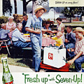 Seven-up Soda Ad, 1954 by Granger