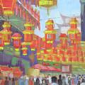 Shanghi Lanterns II by Robert P Hedden
