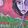 She Loved The Poppies by Laurie Maves ART