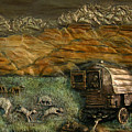Sheep Herder's Wagon From Snowy Range Life by Dawn Senior-Trask