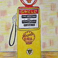 Shell Gas Pump by Kathy Marrs Chandler