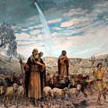 Shepherds Field Painting by Munir Alawi